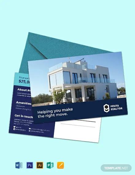 free sample realtor postcard template