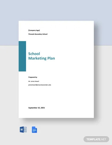 free sample school marketing plan template
