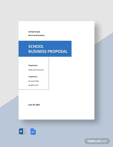 free simple school business proposal template