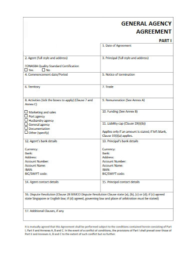 general agency agreement
