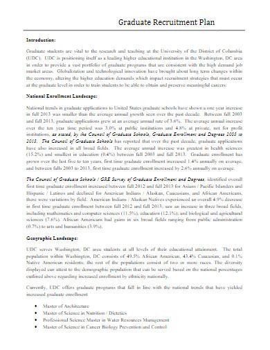 graduate recruitment plan