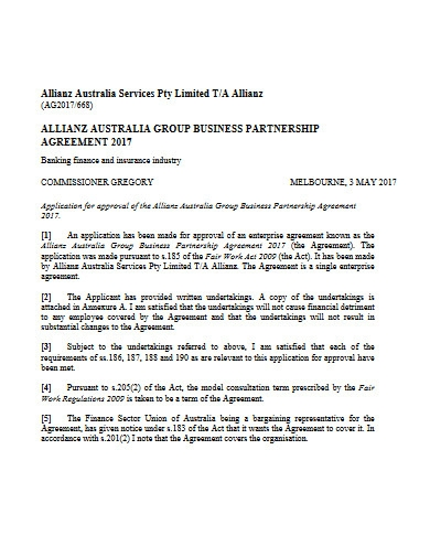 group business partnership agreement