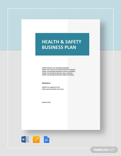health safety business plan template