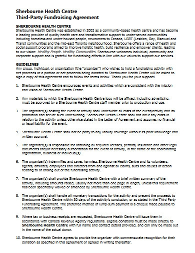 heath center fundraising agreement