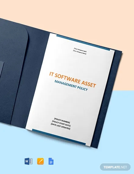 it software asset management policy template