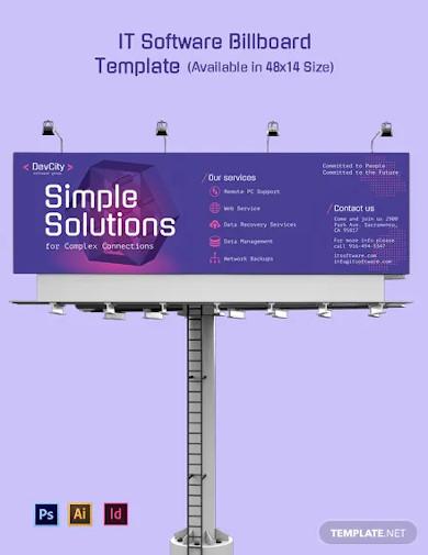 it software billboard template