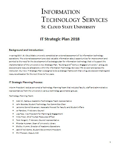 it strategic plan yearly