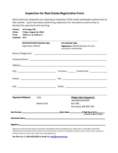 inspection for real estate registration form