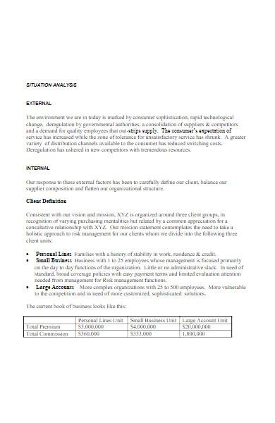 insurance agency business plan in pdf