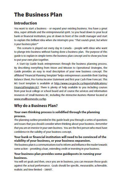 insurance financial business plan