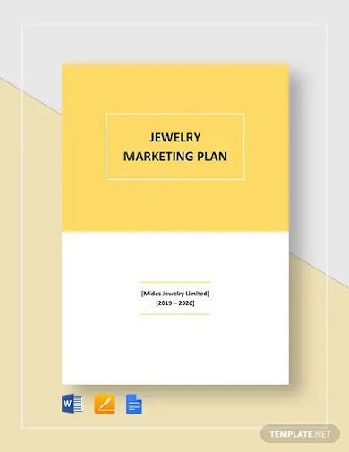jewelry marketing plan template