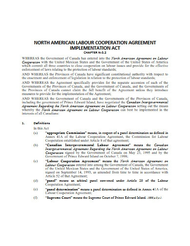 labour cooperation agreement