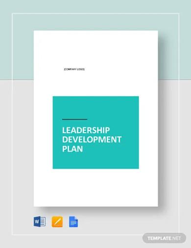 leadership development plan template