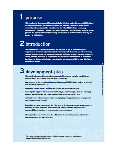 leadership development plan in pdf