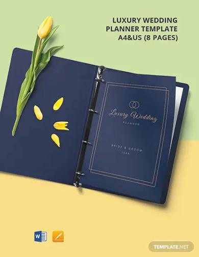 luxury wedding planner template