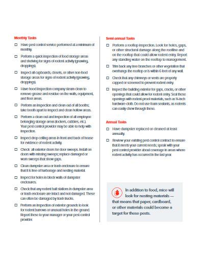 management checklist for restaurant
