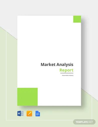 market analysis report template