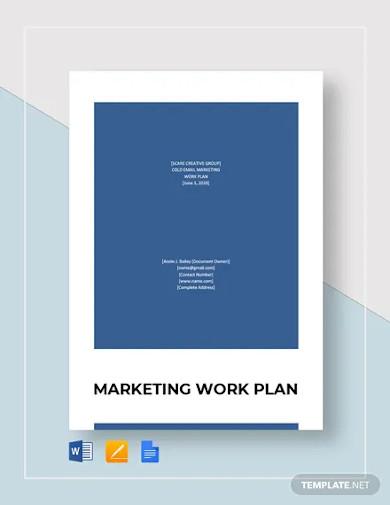 marketing work plan template
