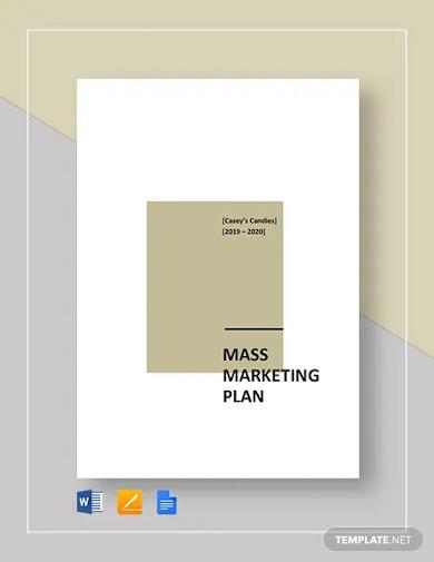 mass marketing plan template