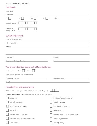 mentor application form example