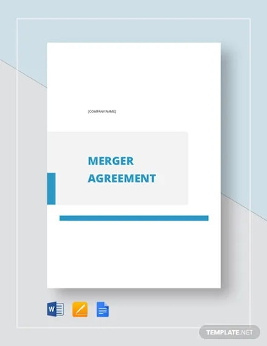 merger agreement template