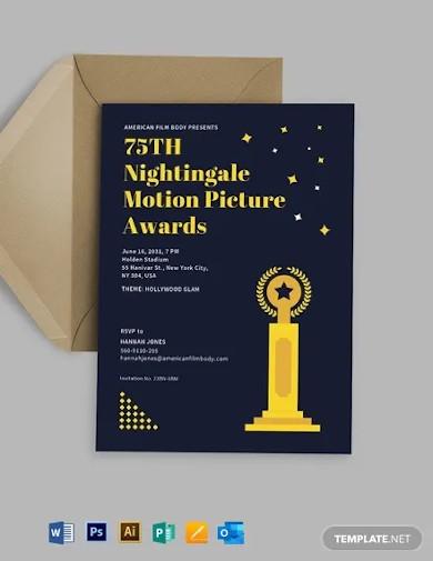 modern award ceremony invitation template