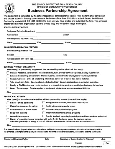 new business partnership agreement