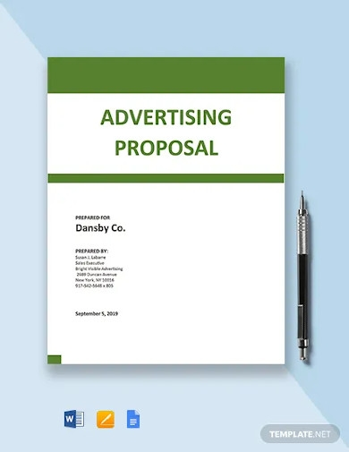 outdoor advertising proposal template