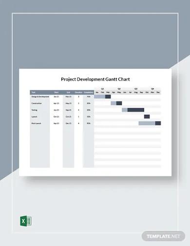 project development gantt chart template