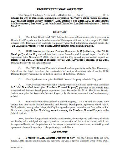 property exchange agreement