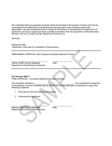 purchase approval request letter