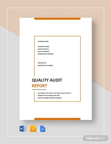 quality audit report template