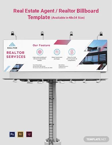 real estate agent realtor billboard template