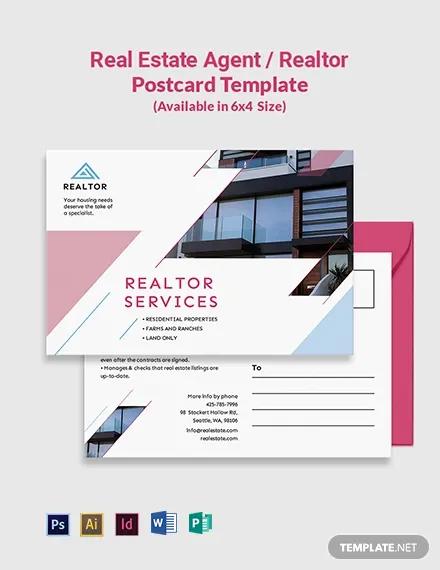 real estate agent realtor postcard template