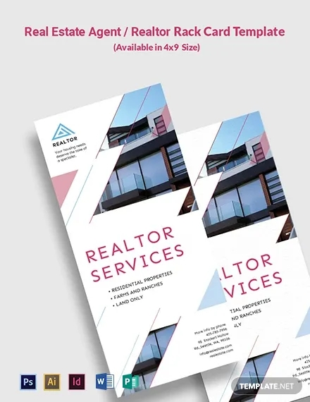real estate agent realtor rack card template