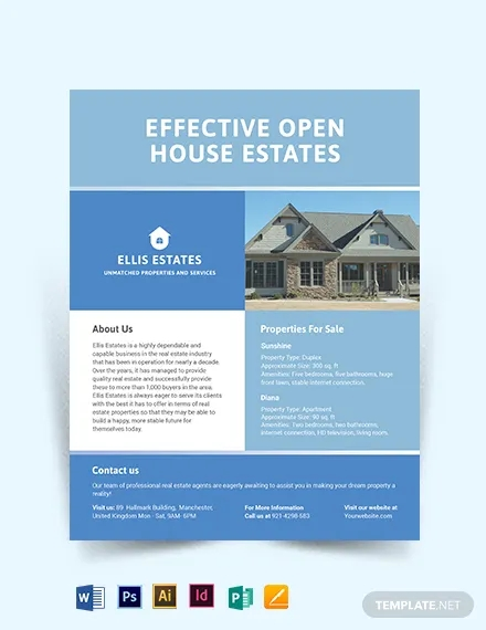 real estate community flyer template