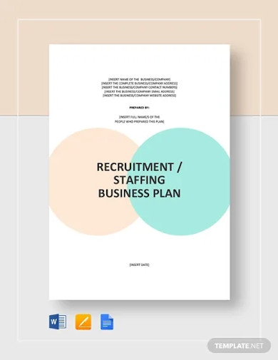 recruitment staffing agency business plan template