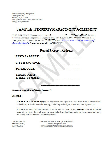 rental property management agreement