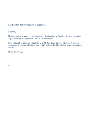research approval request letter