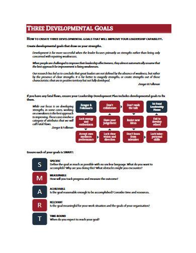 sample leadership development plan