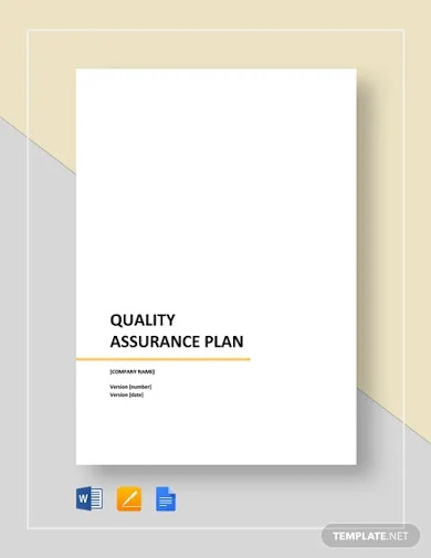 sample quality assurance plan templates