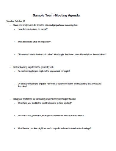 sample team meeting agenda in pdf