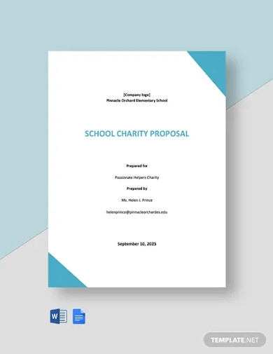 school charity proposal template