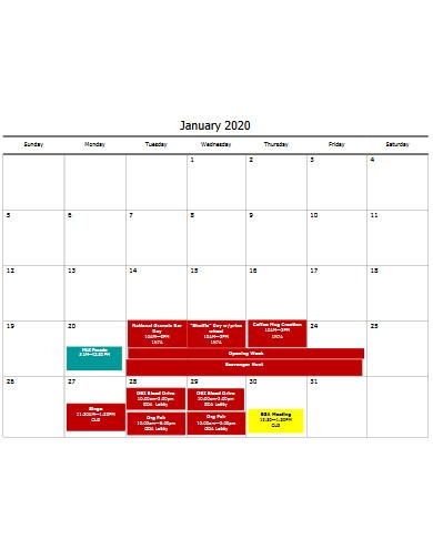 school life event calendar