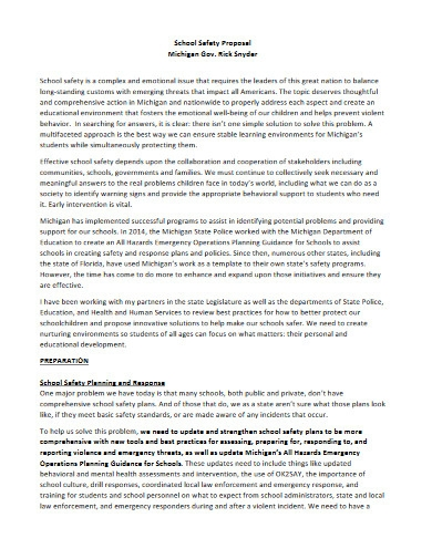school safety proposal