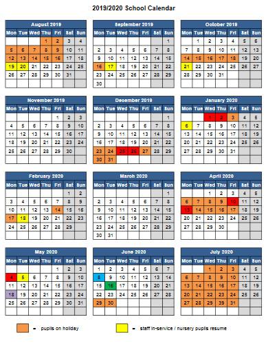 school sessions calendar