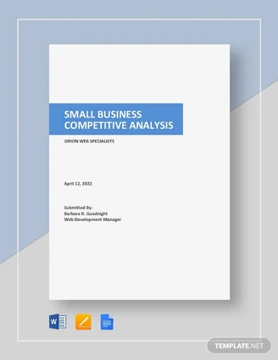 small business competitive analysis template