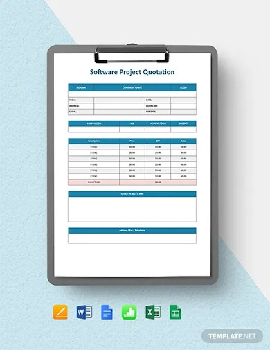 software project quotation template
