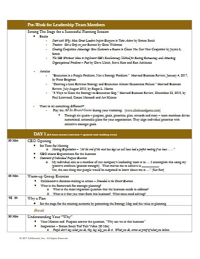 strategic planning meeting session agenda