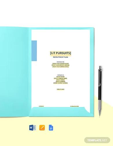 student recruitment plan template